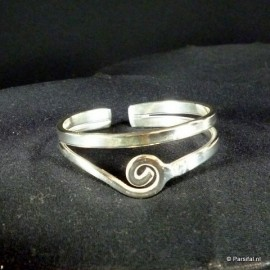 B1122S Silverplated Spiral Bangle