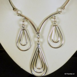 158 Necklace Silverplated